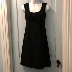 Ann Taylor black eyelet dress size 2